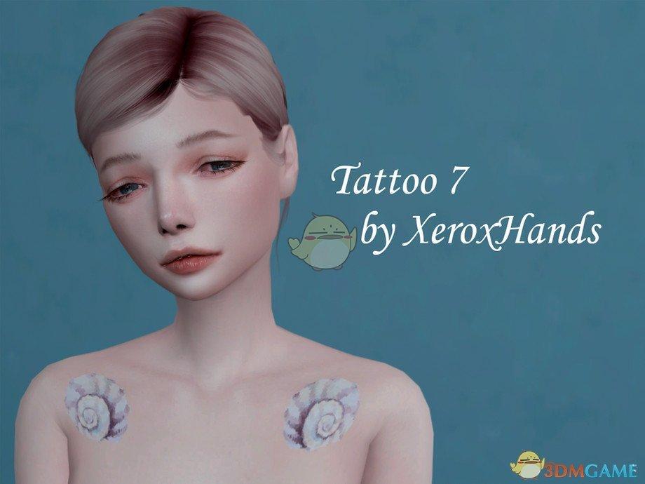 《模拟人生4》海螺贝壳小鱼纹身MOD