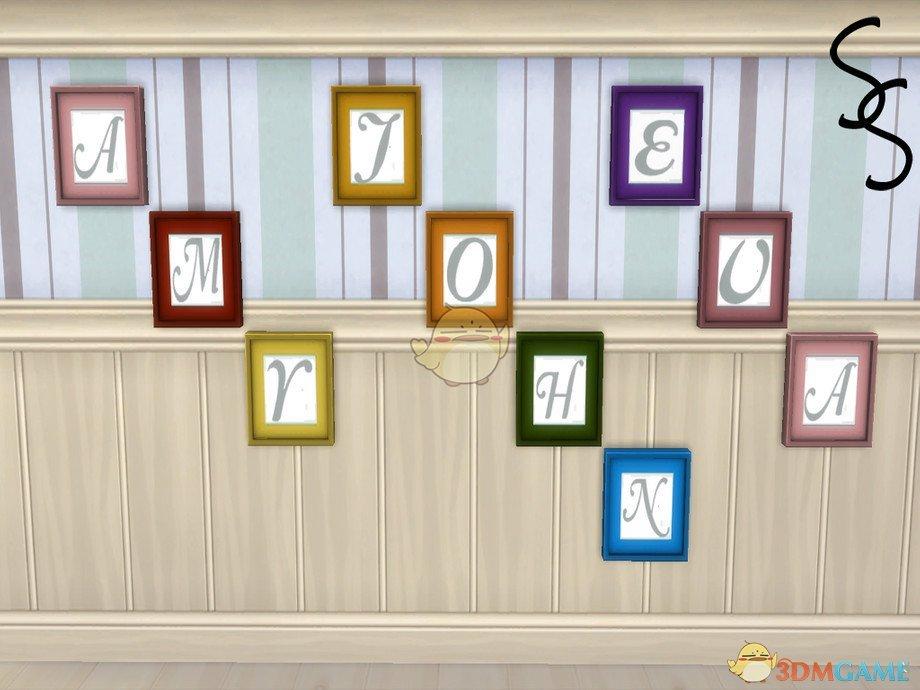 《模拟人生4》字母相框挂饰MOD