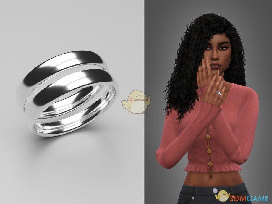 《模拟人生4》金属双圆环戒指MOD