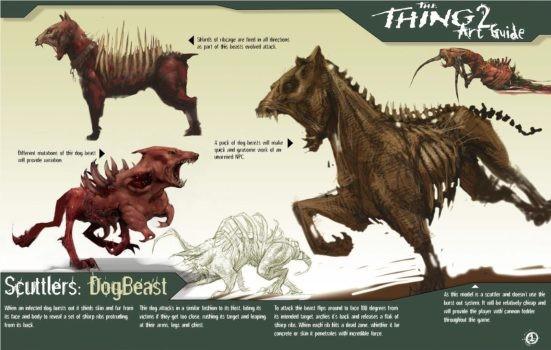 概念画师分享被取消的科幻改编游戏《怪形2》概念图