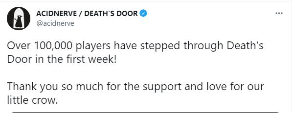 《死亡之门》有超10万名玩家玩过 发售不到一周