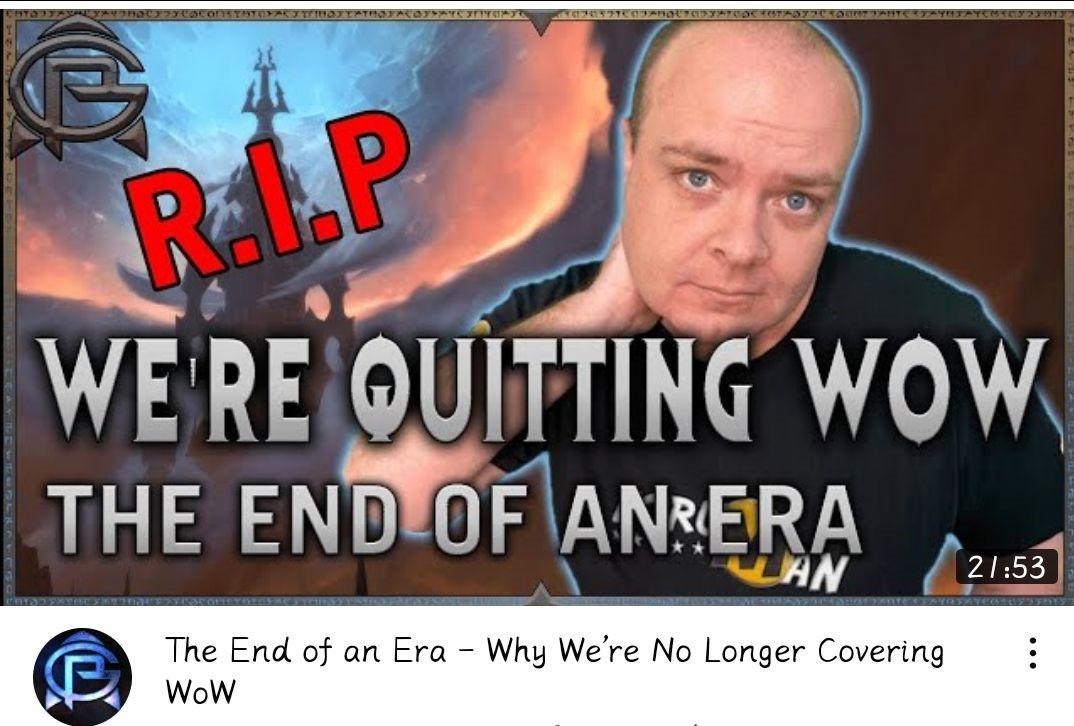 失望透顶!知名《魔兽世界》内容创作者宣布停止创作