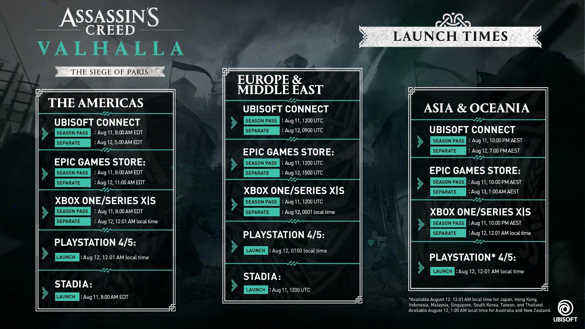 《刺客信条:英灵殿》DLC围攻巴黎最快8月11日可玩 需要玩家购买季票