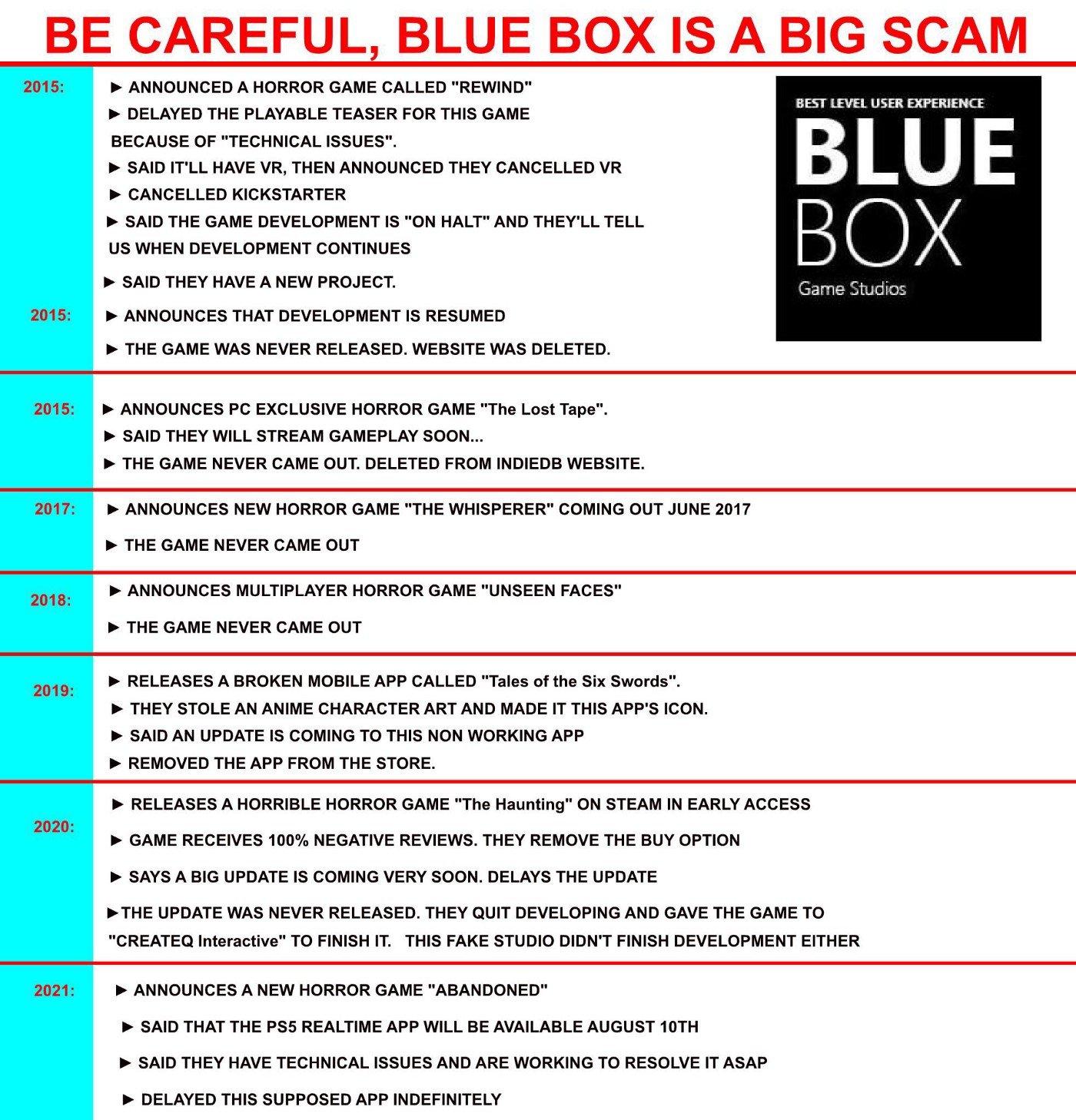 买过Blue Box差评雷作的玩家将可免费获赠《遗弃》