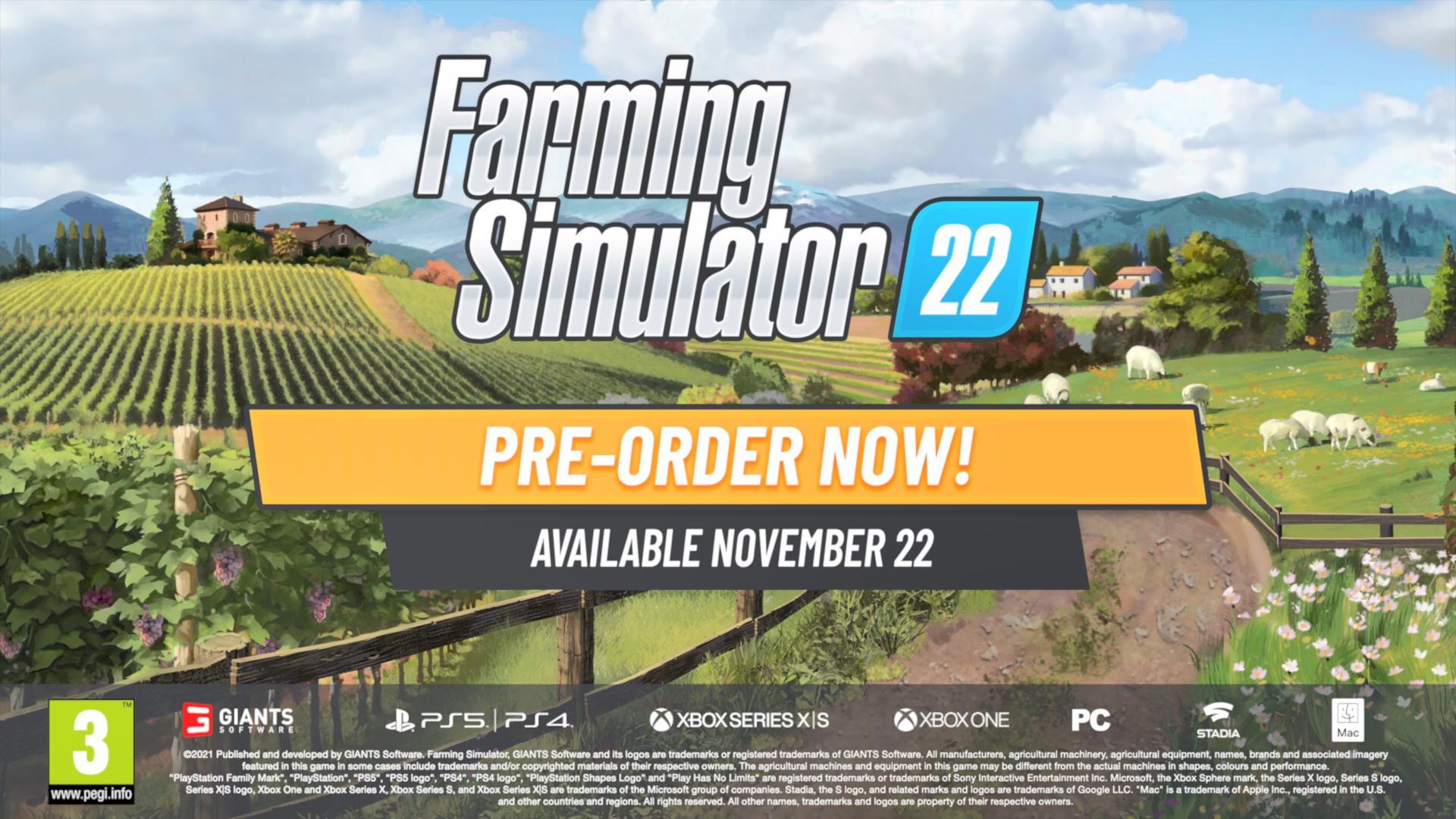 《模拟农场22》新实机演示宣传片 11月22日正式发售