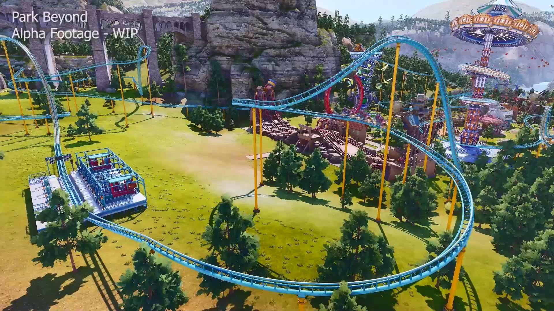 万代南梦宫新作《Park Beyond》实机试玩视频 模拟过山车建造
