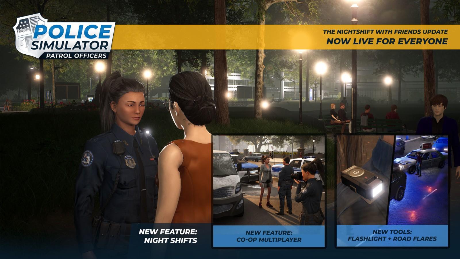 《警察模拟器:巡警》追加网络模式 支持2人合作破案