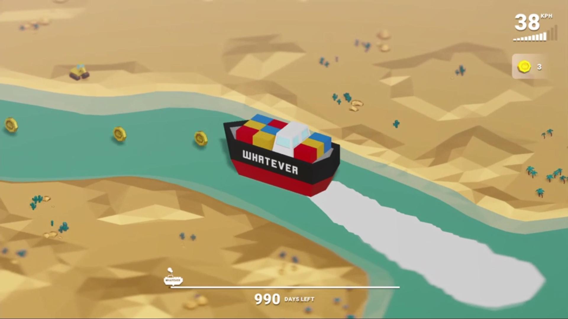 受苏伊士运河堵船事件启发 航行模拟游戏《WHATEVER》上架Steam