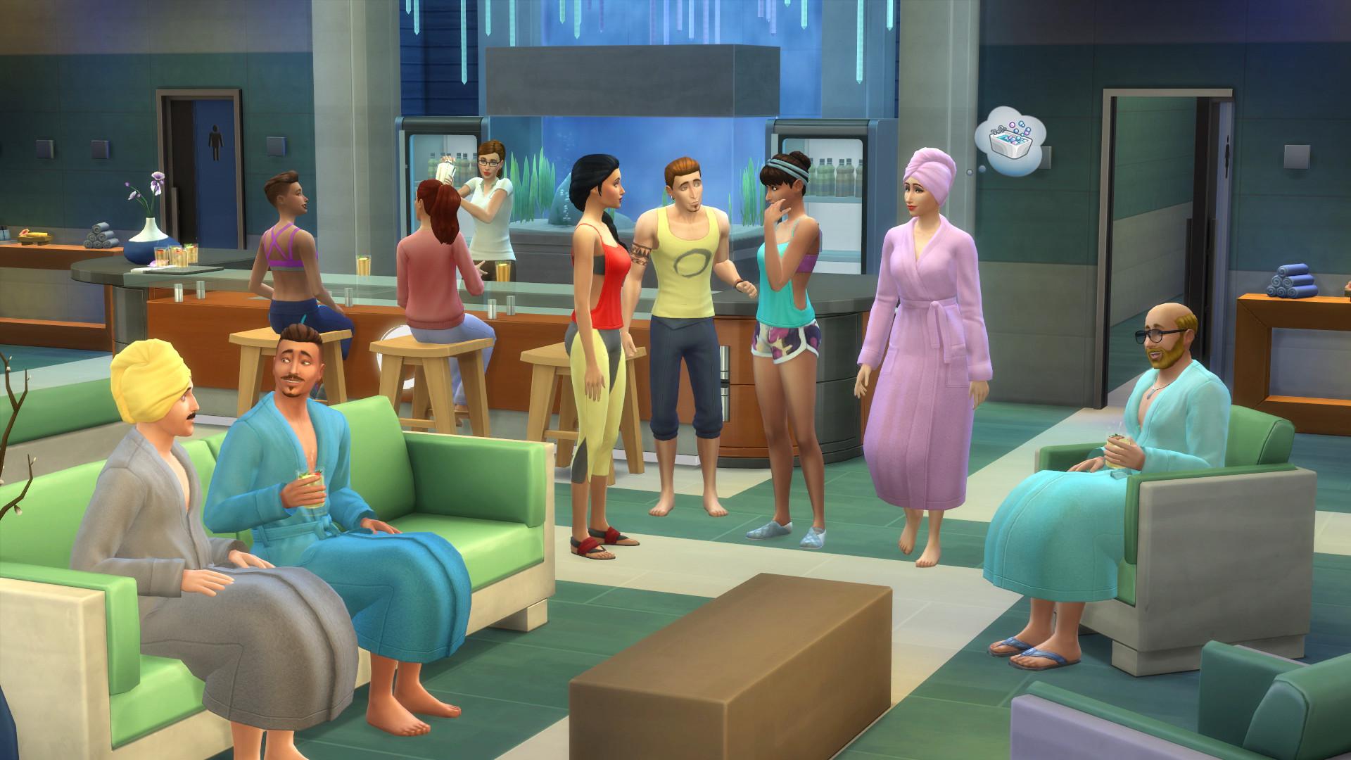 《模拟人生4:水疗日》将迎来免费大更新 9月7日推出