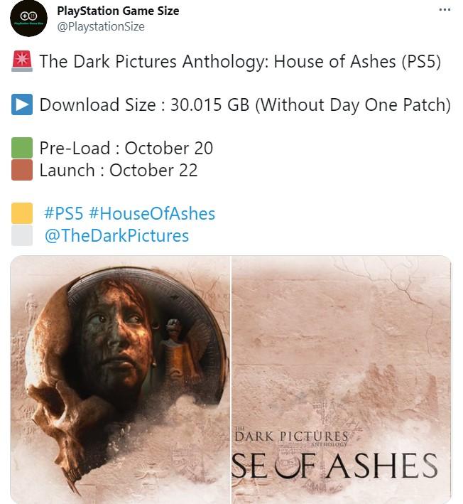 互动式剧情游戏《黑相集:灰冥界》PS5版容量曝光 占用空间最少30GB
