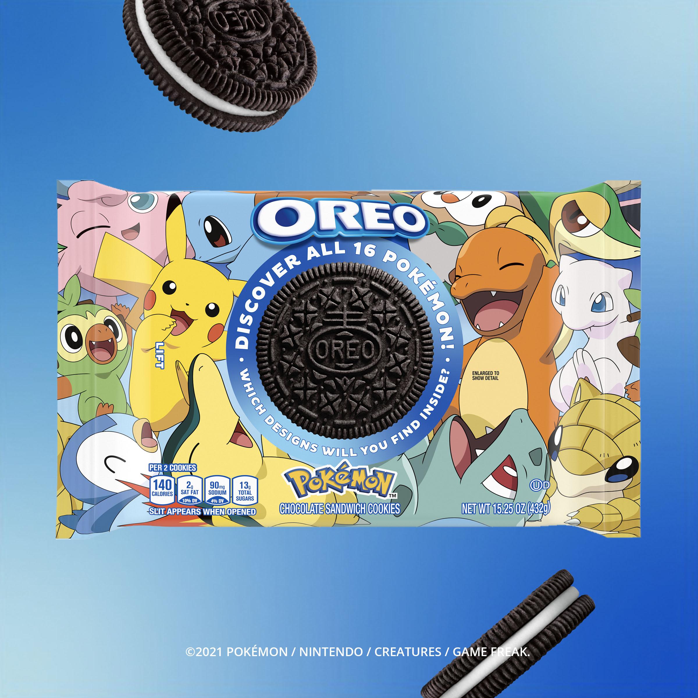 《宝可梦》联动奥利奥推出限定款饼干 共有16种不同的宝可梦印花