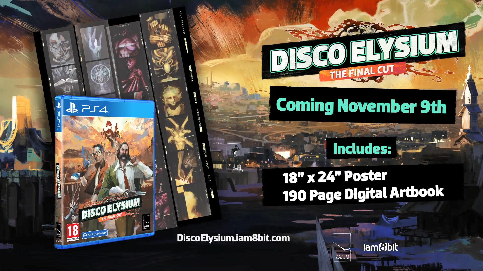 《极乐迪斯科:最终剪辑版》推出实体典藏版 11月9日发售