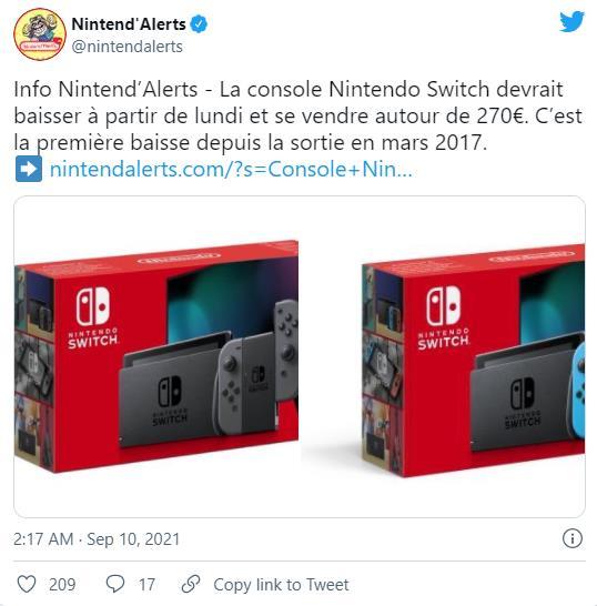 传闻:任天堂下周或将下调Switch价格