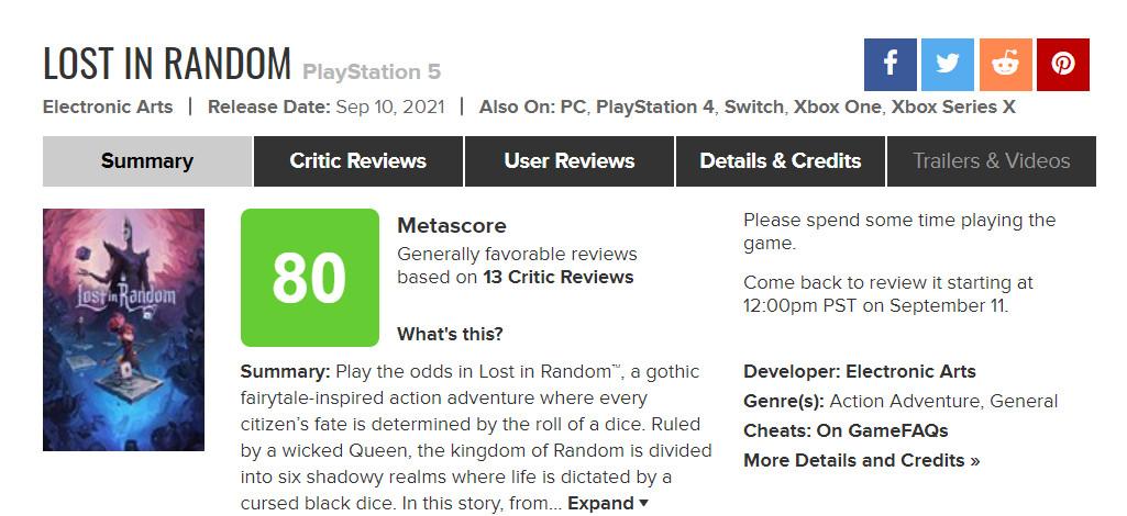 EA Original游戏《任意迷途》现已发售 Steam国区158元
