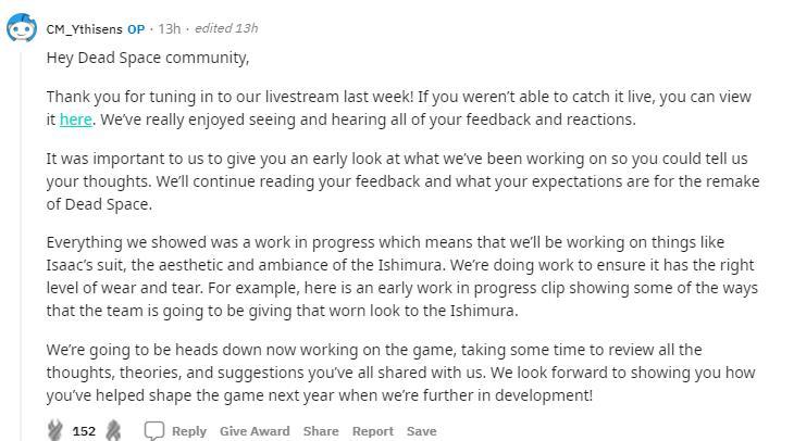 开发人员:《死亡空间重制版》下个新消息要等到明年插图3