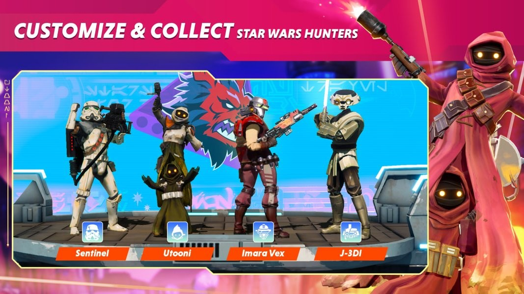 免费多人射击游戏《星球大战:猎人》公布首批截图 皮肤特效直接拉满