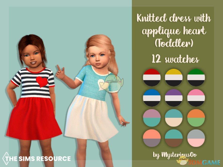 《模拟人生4》幼儿可爱爱心连衣裙MOD