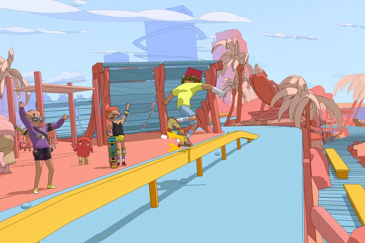 《奥力奥力世界》全新角色自定义系统 充满仙人掌、骷髅的适合滑板之地