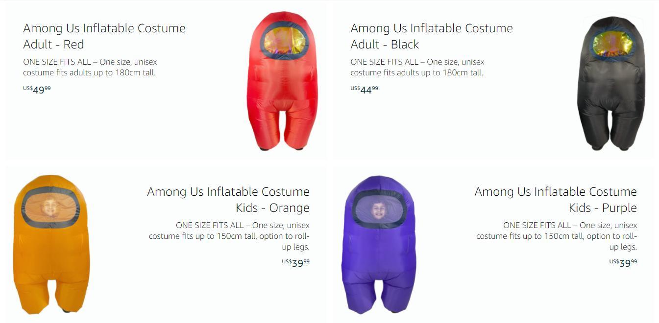《Among Us》推出官方COS服装 成人款约高180CM