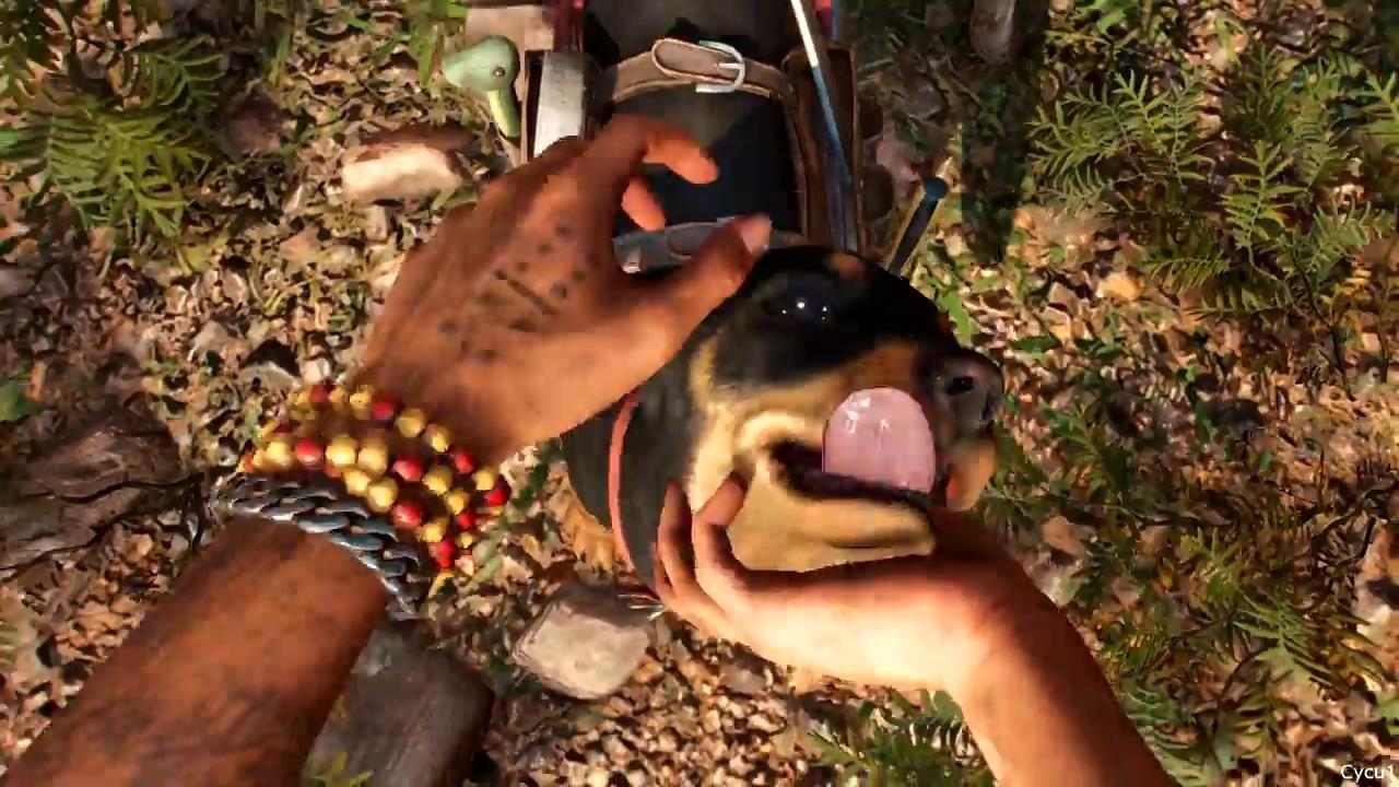 《孤岛惊魂6》新实机视频 玩家与动物互动展示