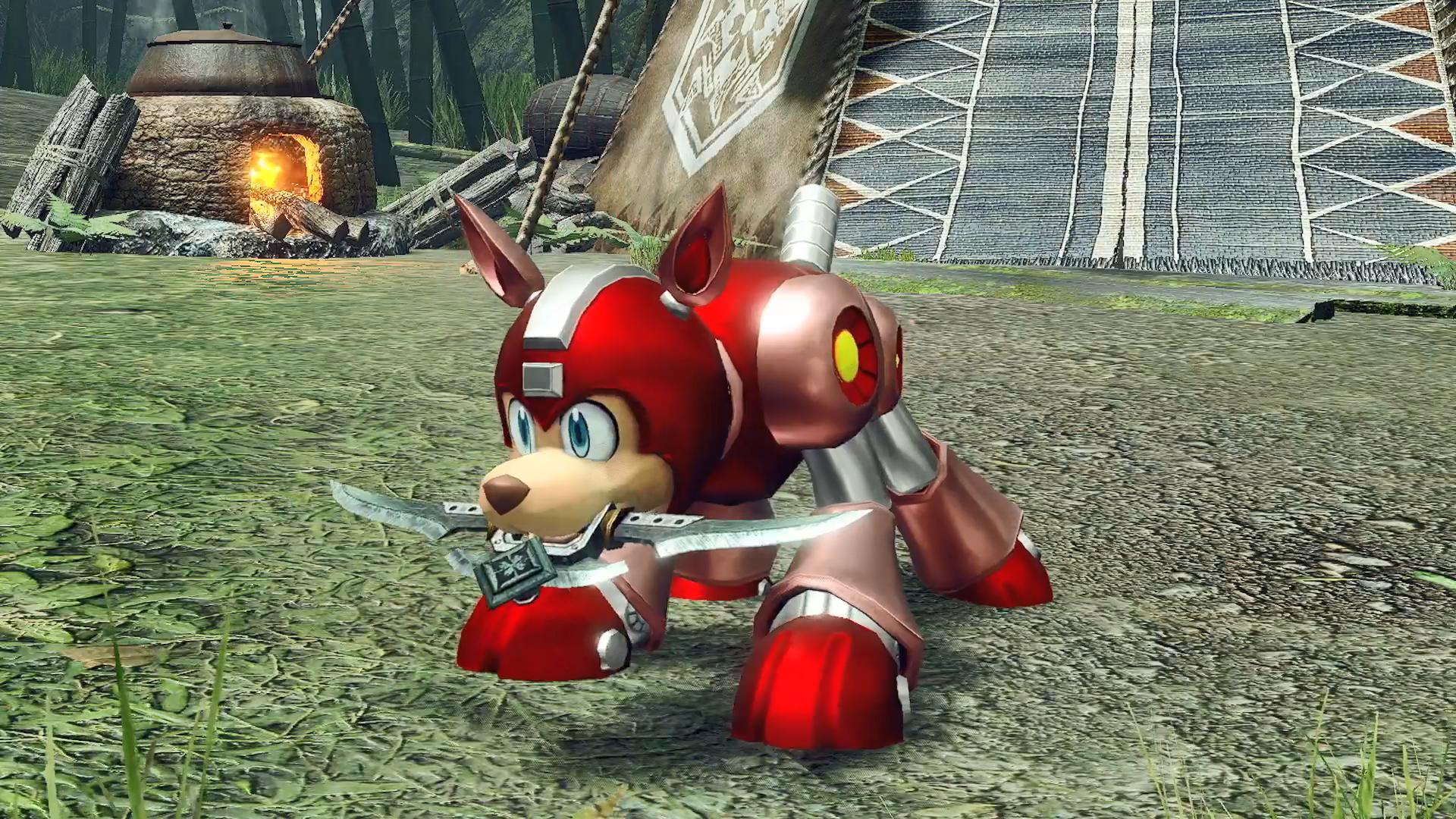 """《怪物猎人:崛起》卡普空联动第4弹公布 洛克人""""莱西""""牙猎犬外观插图3"""