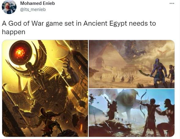 粉丝绘制《战神6》艺术图 奎爷霸气大战埃及神插图3