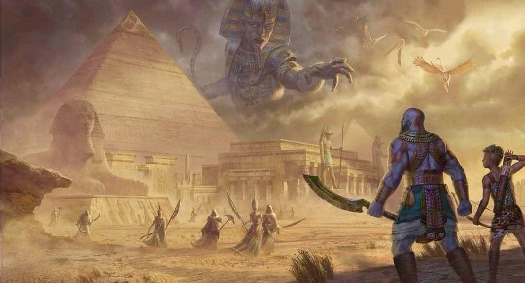 粉丝绘制《战神6》艺术图 奎爷霸气大战埃及神插图7
