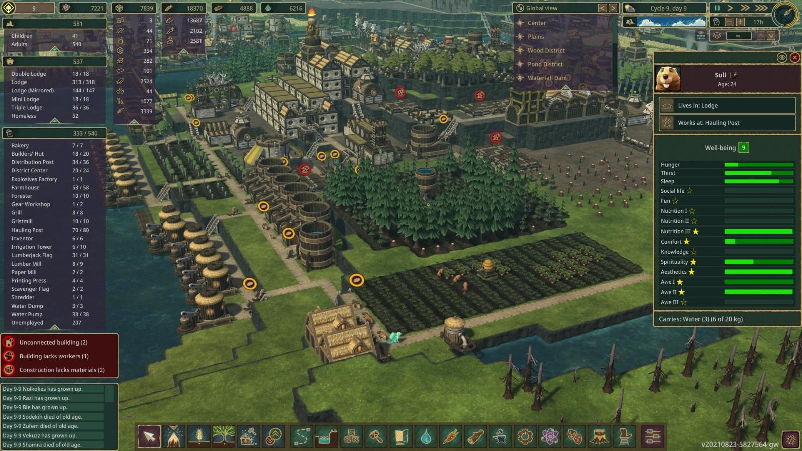"""模拟建造游戏《Timberborn》Steam获""""特别好评"""""""