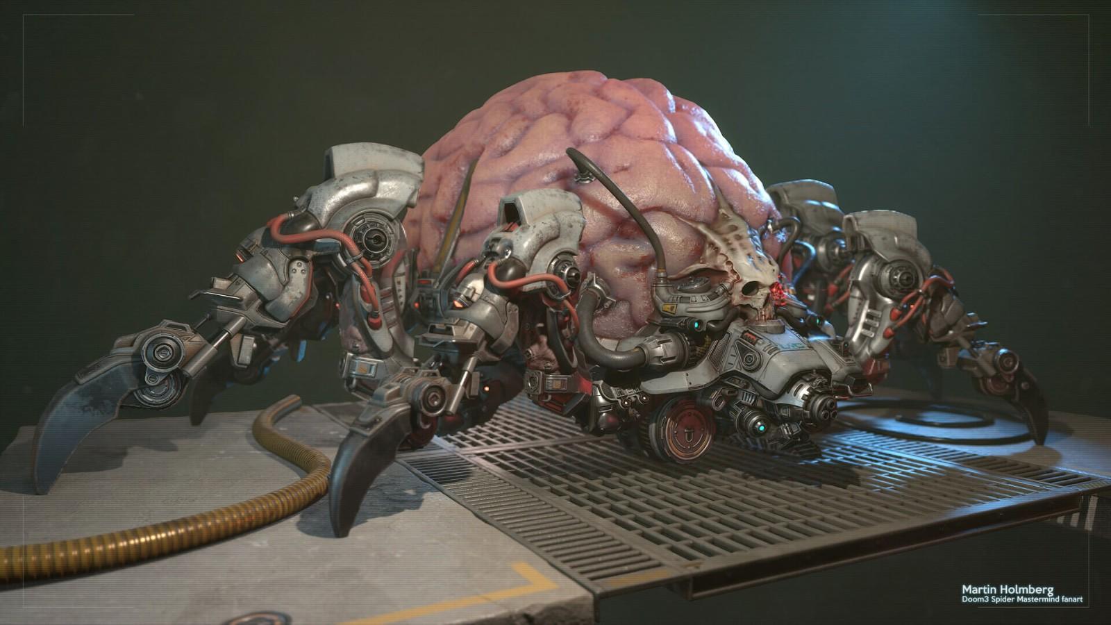 Epic资深场景画师重制《毁灭战士》惊悚蜘蛛首脑插图7