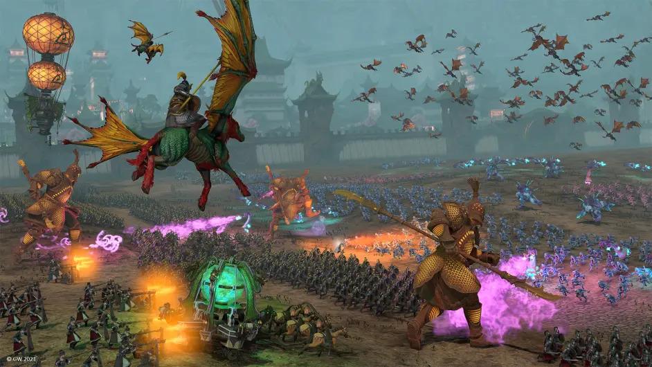 《全面战争:战锤3》震旦天朝:龙帝、长恒、月后及魔法