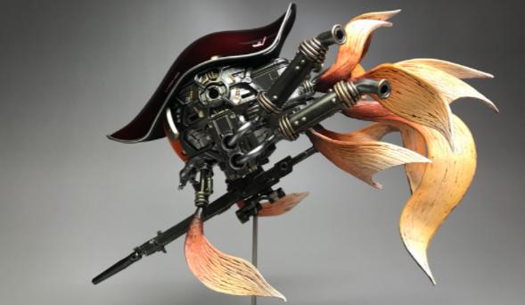高玩动手改造钢普拉 炮灰铁球变身金鱼版终于咸鱼翻身