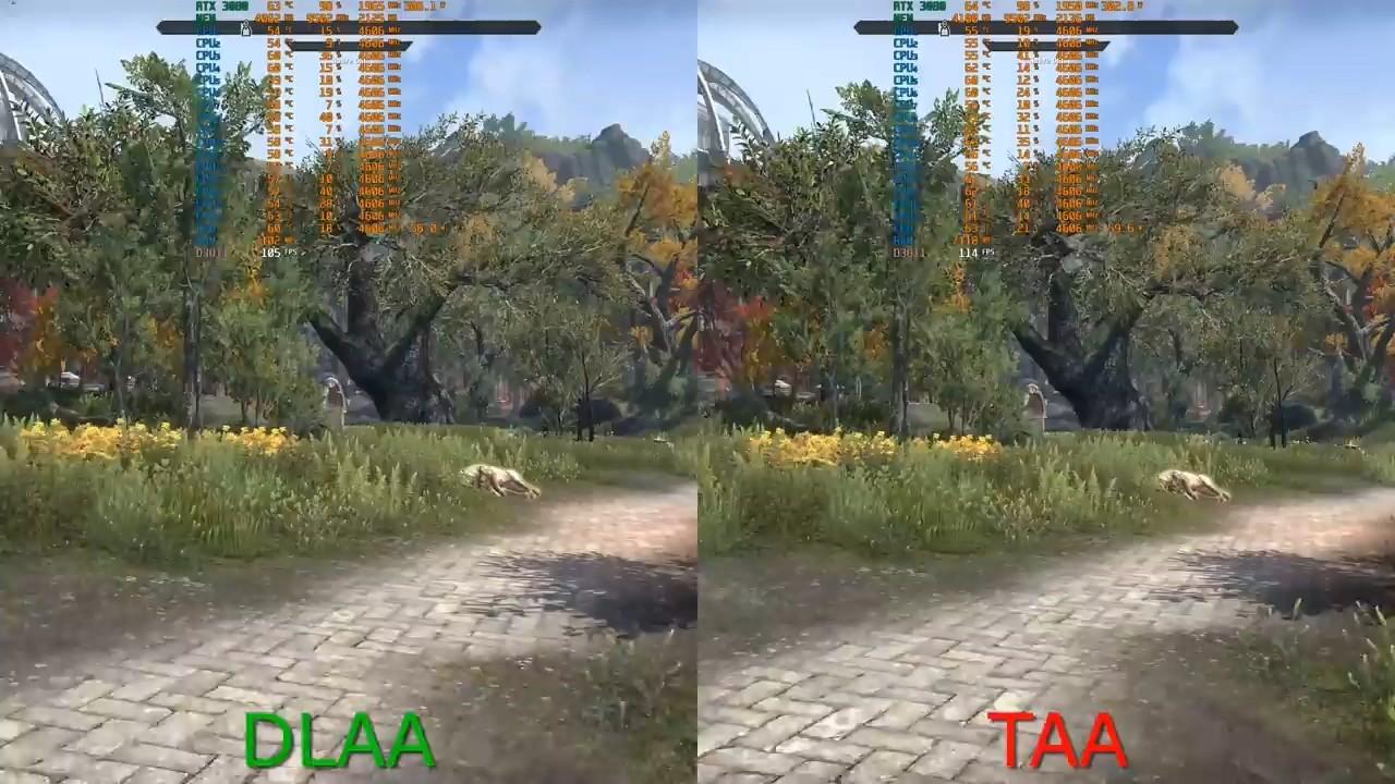 《上古卷轴OL》DLAA vs DLSS vs TAA