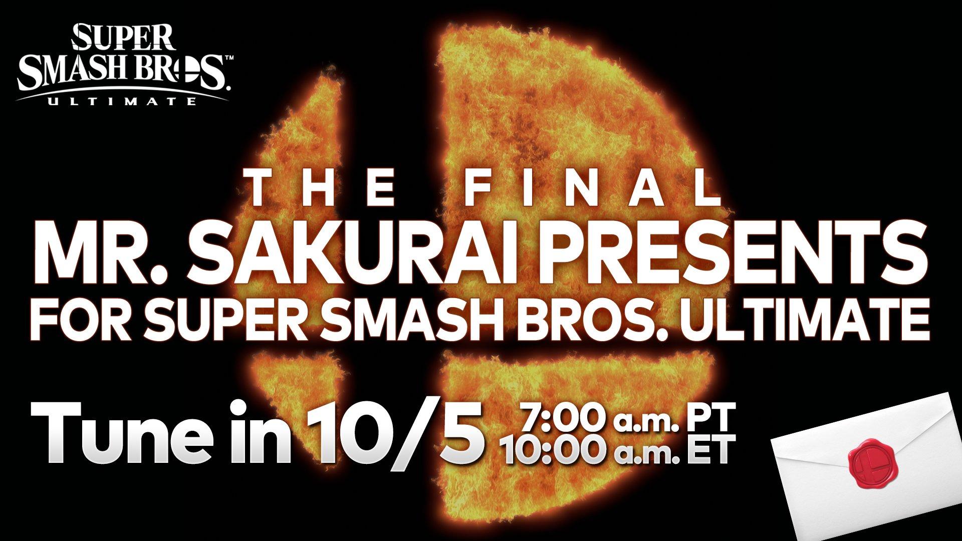 《任天堂大乱斗:特别版》更新发布会10月5日播出 这将会是最后一个DLC