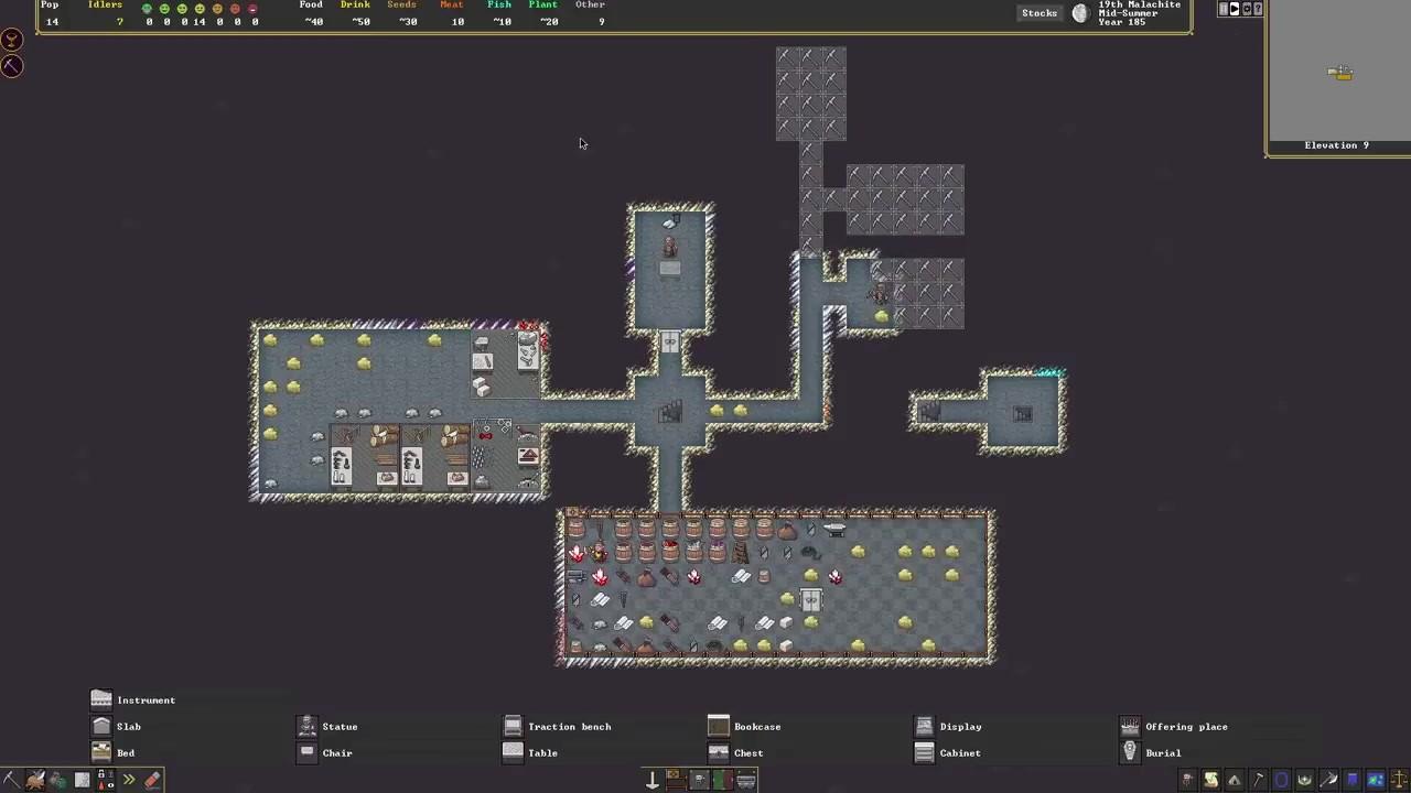 复杂模拟游戏《矮人要塞》Steam版10分钟实机演示