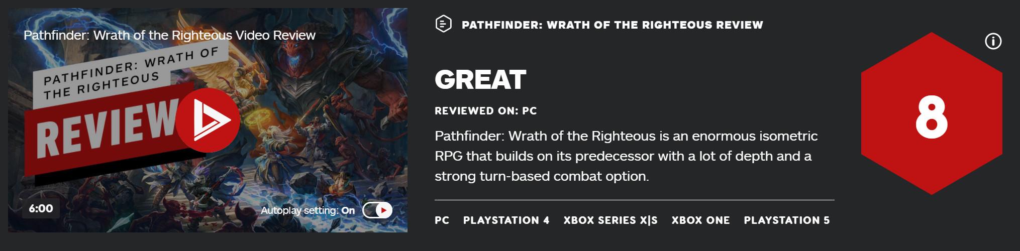 《开拓者:正义之怒》IGN8分 PC版首周销量达25万