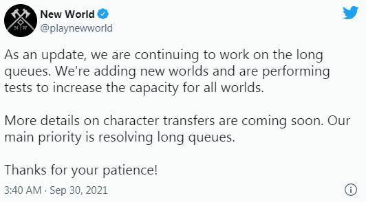 《新世界》太火爆了 数千人排队等待进入游戏