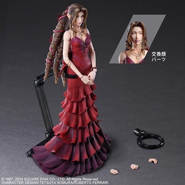 《最终幻想7:重制版》爱丽丝红礼服模型 太美了