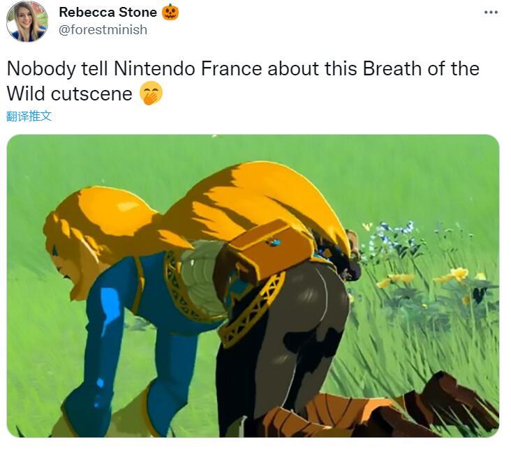 法国任天堂发布蛇叔盯萨姆斯屁股图片 随后火速删除