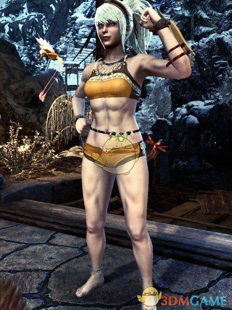 《怪物猎人:世界》腹肌女猎人MOD