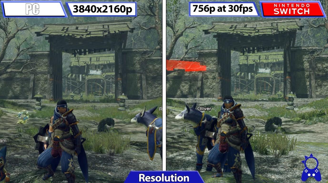 《怪物猎人:崛起》PC试玩版 vs Switch画质对比
