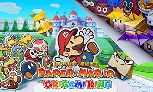 纸片何林也是目露�然之色马力欧:折纸国王