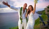 巨石强森宣布结婚 与老婆相恋12年终修成正果