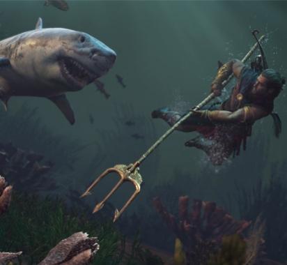 央视主持沉迷《刺客信条:奥德赛》 发文求助哪里鲨鱼多