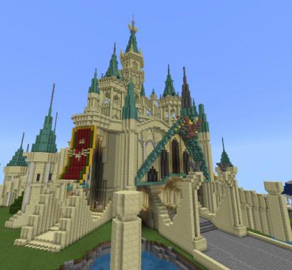 """《塞尔达传说》""""海拉鲁城堡""""现身《我的世界》"""