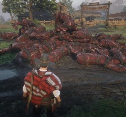 《荒野大镖客OL》惊现大量马匹尸体 非常诡异吓人