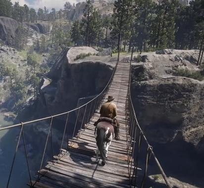 《荒野大镖客2》PC预告与主机版场景对比