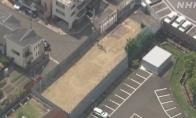 京阿尼纵火案受损大楼完全拆除 已用白色栏板隔开