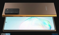 三星Note 20 Ultra渲染图:挖孔屏设计 后置镜头超大