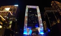 PS5台湾发售 索尼在商业街亮起超大广告霓虹灯