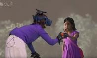 韩国一位母亲通过VR 与因病去世的女儿再次相见